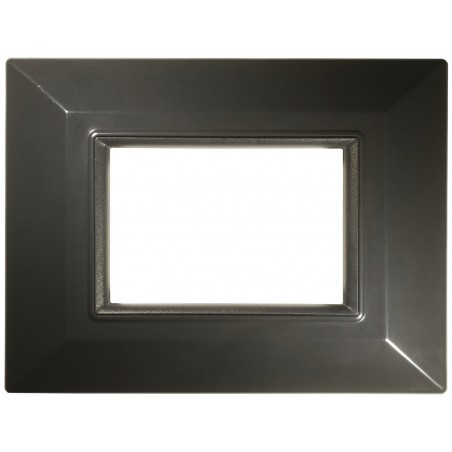 Placca Compatibile Bticino International e Living Light Grigio Scuro 3, 4, 7 Posti Tecnopolimero