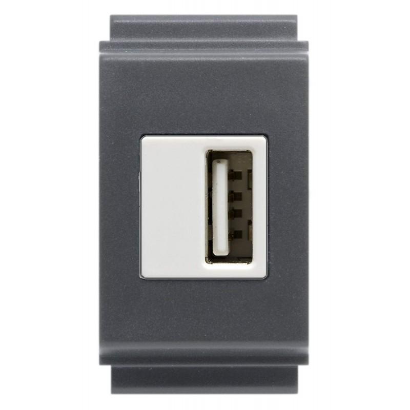 Alimentatore USB 1 Presa TL Tasti Larghi