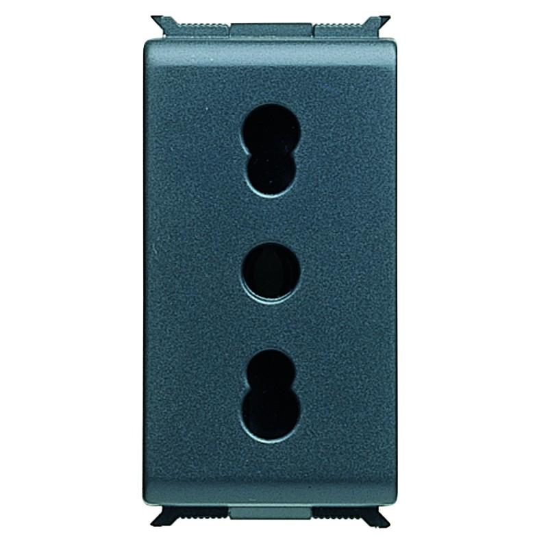 Presa Standard Italiana con Schermi 2P+T 16A 250V Bivalente Gewiss Playbus 30203 prezzi costi costo
