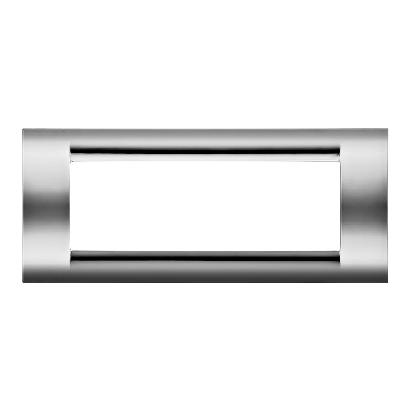 Placca Gewiss Playbus Young 32076 6 Moduli Cromo Soft Tecnopolimero Finitura Lucida prezzi costi costo