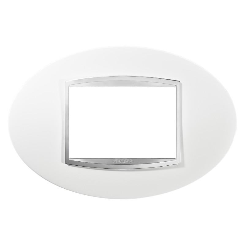 Placca 3 Moduli Art - Bianco Latte - Chorus