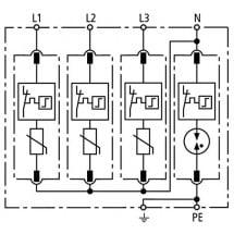 Dehn 952310 - Limitatore di Sovratensione DG M TT 275- 3P+N-PE CL.2 DEHNguard