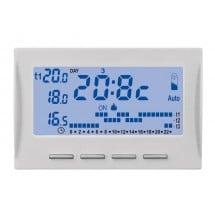 Termostato elettronico estate/inverno con display LCD 3 livelli di temperatura impostabili. 3 moduli Abb Mylos 2CSY1202MC