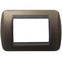 Placca in Metallo Marrone Opaco Compatibile Bticino International 3, 4, 7 Posti