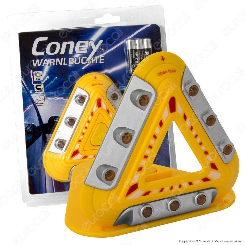Triangolo di Emergenza LED a Batteria Coney