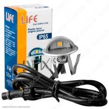 Segnapasso da Interramento in Zinco Life Punto Luce LED 0,4W
