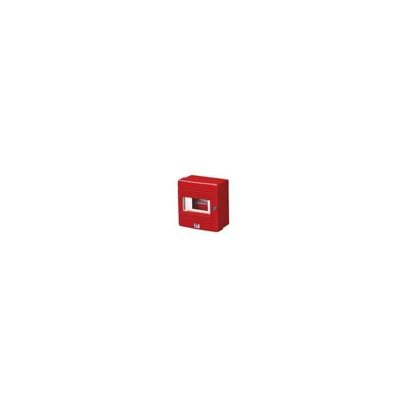 Centralino Stagno Emergenza 4 Moduli Rosso Gewiss Gw42206