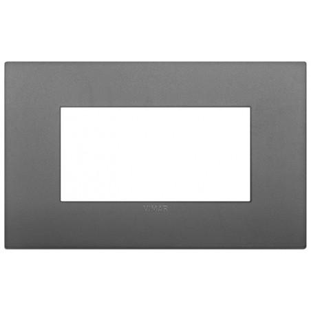 Placche Vimar Arké 19654.72 - Placca Classic 4M light noir matt