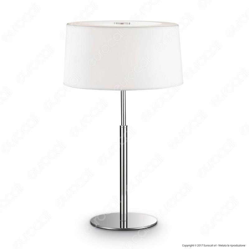 Ideal Lux Hilton TL2 Lampada da Tavolo in Metallo con Portalampada per Lampadine E14
