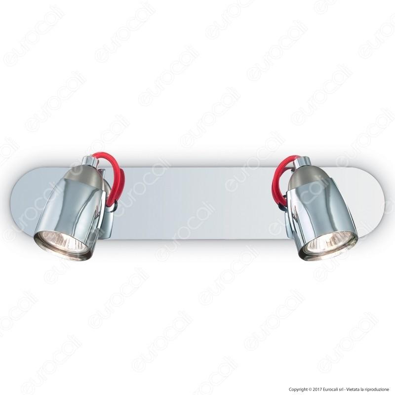 Ideal Lux Pollicino AP2 Lampada da Parete in Metallo con Portalampada per Lampadine GU10