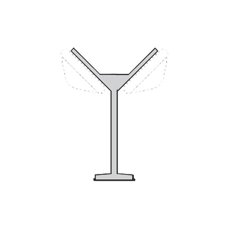Palo da Giardino Esterno Altezza 0,73 Metri Alluminio Verniciato Nero Prisma Delta Mini M2 008132