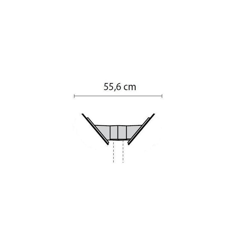 Mensole Chip Doppia Inclinata per Palo Diametro 60mm 2 Braccia Nero Prisma 000810