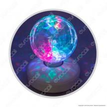 Proiettore Led Sfera Diamantata Multicolore Effetto Rotante - Per Interno