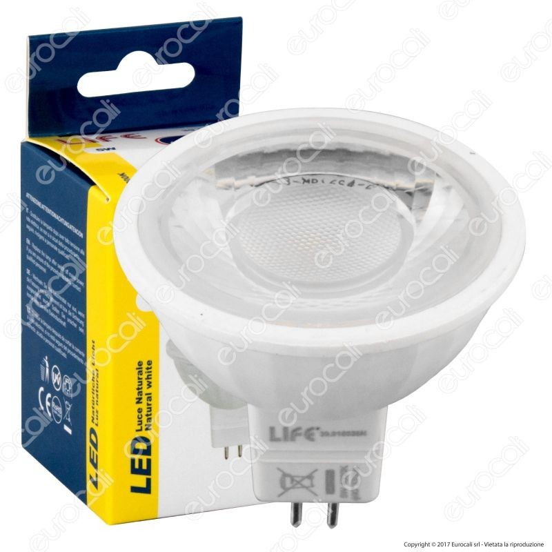 Life Lampadina Led Gu5.3 (Mr16) 5W Faretto Spotlight