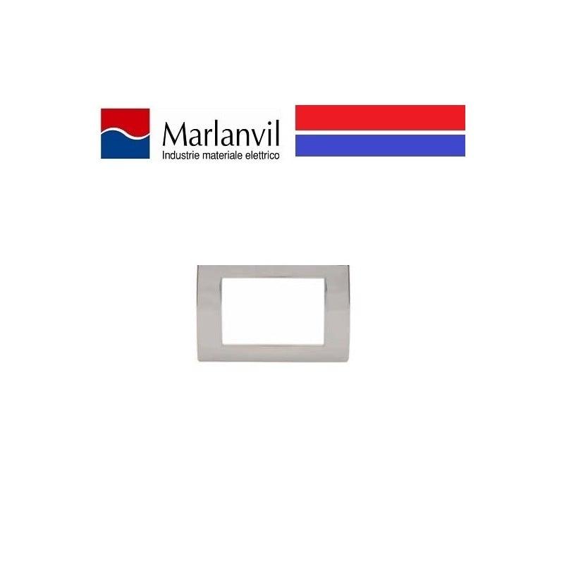 PLACCA MARLANVIL CLASSIC 3 POSTI COLORE NERO FLASH 7833.T.N