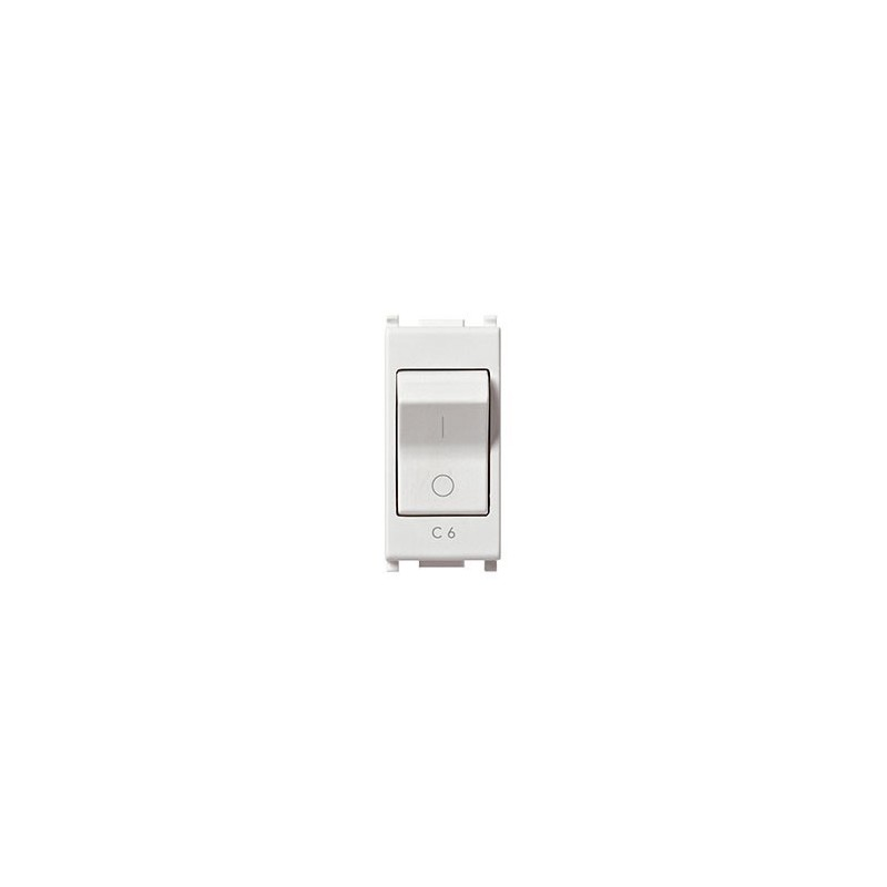 Vimar Plana 14405.06 - Interruttore MT 1P+N C6 120-230V bianco
