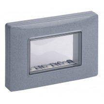 Vimar 14943.14 - Calotta IP55 3M +viti grigio granito