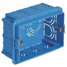 Scatola incasso rettang. 3 Moduli azzurro Vimar VIW V71303