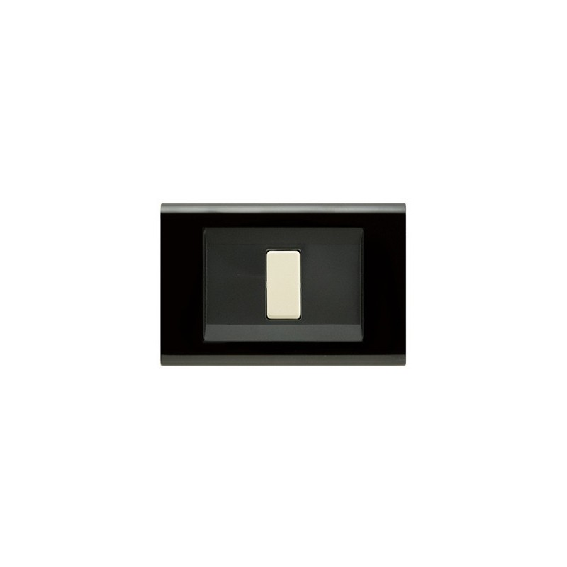 Placca Nera 1, 2, 3 Posti Compatibile Vimar 8000