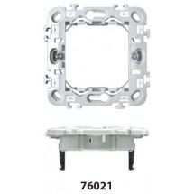 Supporto 2 Moduli per Scatola Tonda Feb Elettrica serie Flat