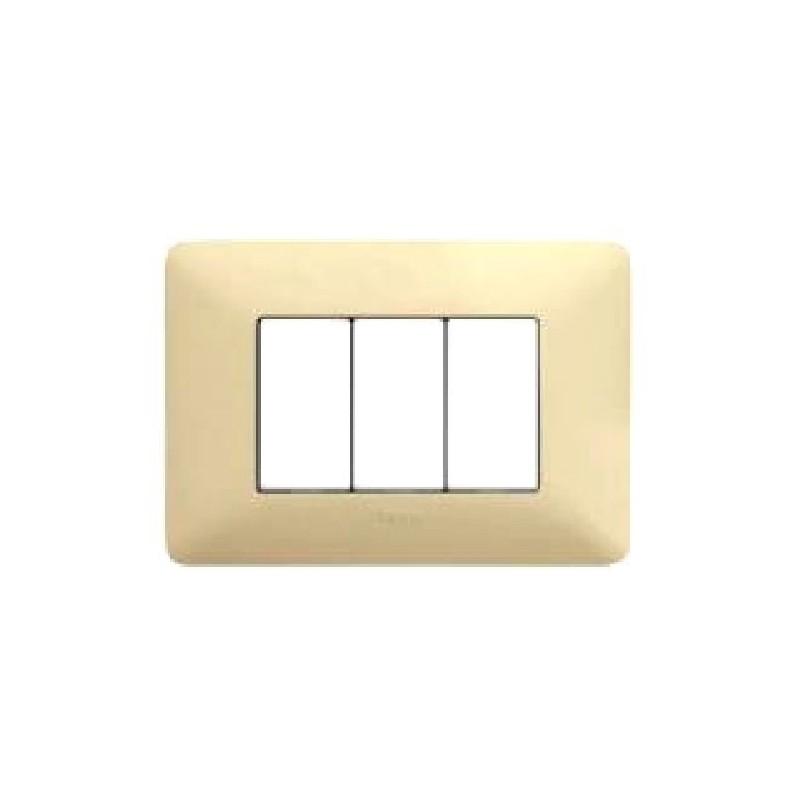 PLACCA 4 MODULI BTICINO COLORE CORDA AM4804BCD