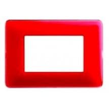 Placca Colors - 3 Moduli - Corallo