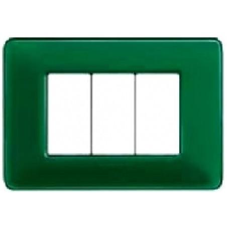 Placca Smeraldo - 3 Posti - Matix Colors