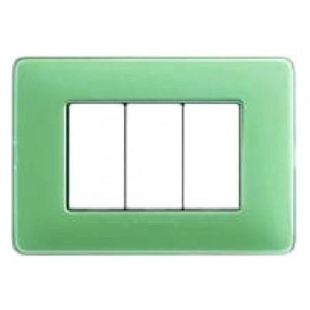 Placca 3 Moduli - Te Verde - Tecnopolimero