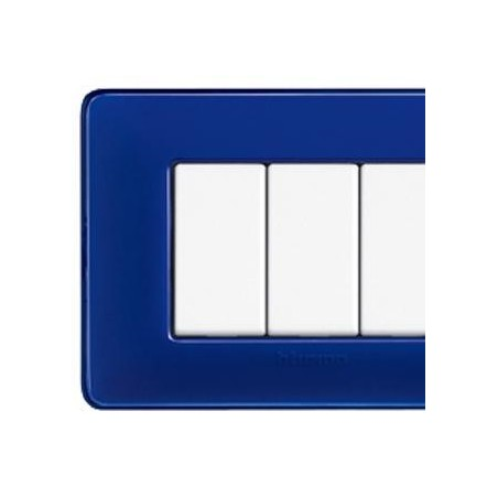 Placca Cobalto - 4 Posti - Tecnopolimero