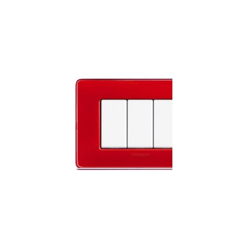 Placca 4 Posti - Corallo - Matix Colors