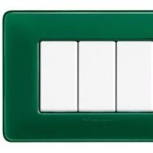 Placca 4 Moduli - Smeraldo - Matix