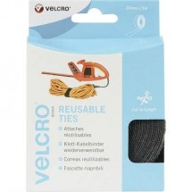 Fascette a strappo per raggruppare Lato morbido e lato rigido (L x L) 5000 mm x 30 mm Nero VELCRO® VEL-EC60254 1