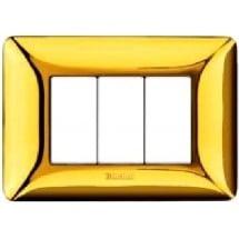 Placca Galvanics Matix - Oro Lucido - 3 Moduli