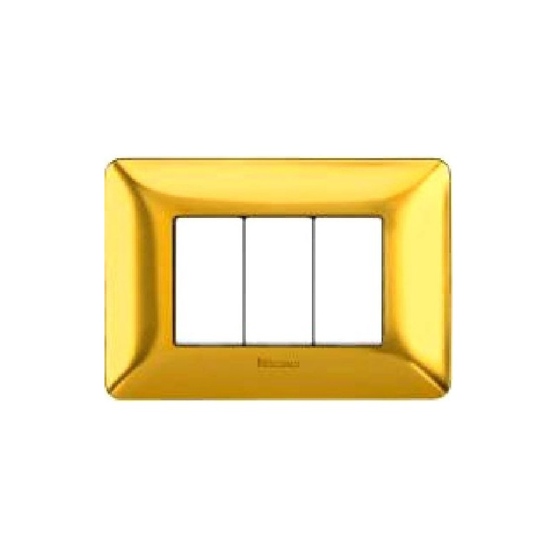 Placca in Oro Satinato - 3 Posti - Matix Galvanics