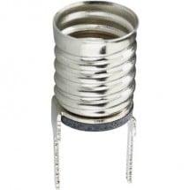 TRU COMPONENTS Porta lampada Attacco: E10 Connessione: Pin a saldare 1 pz.