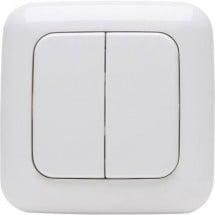 Kopp Free Control 4 canali Interruttore a muro senza fili STANDARD 2/4 Bianco alpino