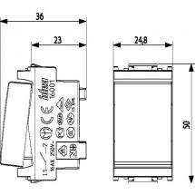 Interruttore Unipolare 16 ampere AX, alimentazione tensione 250 V~,colore grigio
