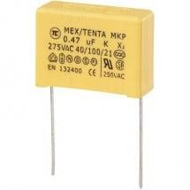 Condensatore per la soppressione dei radiodisturbi MKP-X2 cablaggio radiale 0,47 µF 275 V/AC 10% 22,5 mm (L x P x A)