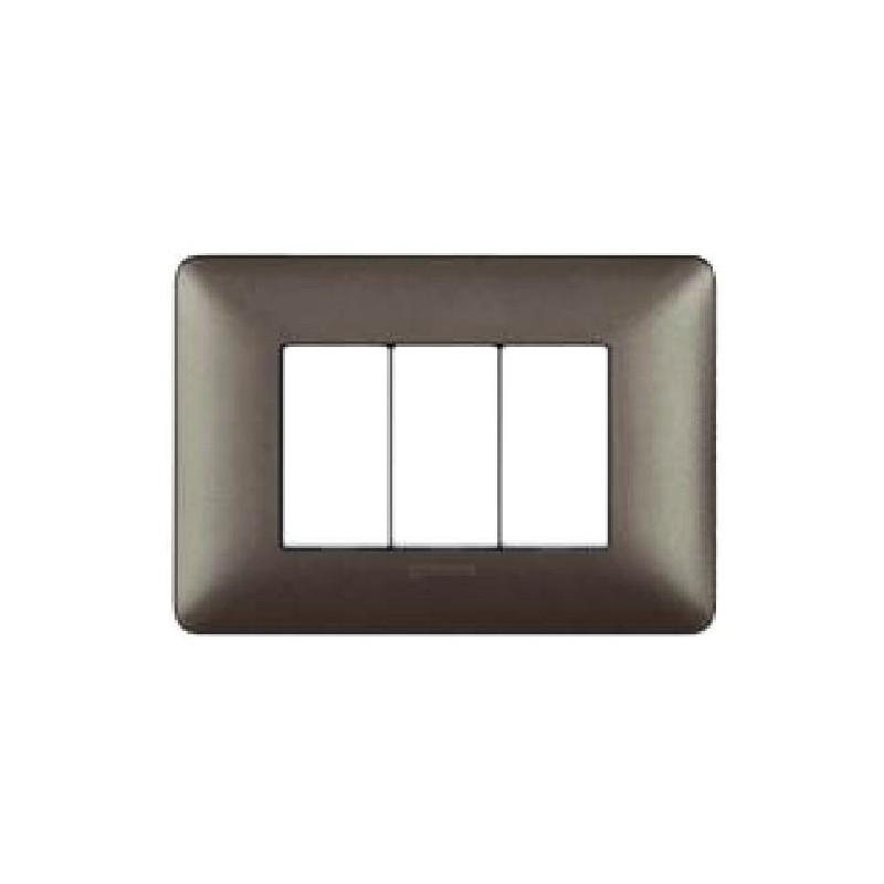 Placca Iron - 3 Posti - Metallics Matix