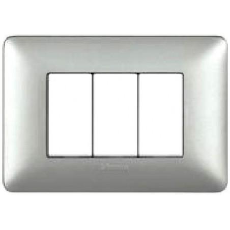 Placca Silver - 3 Posti - Matix Metallics
