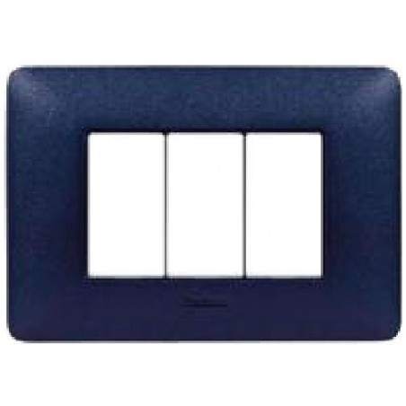 Placca Textures Blu Mercurio - 3 Posti - Matix