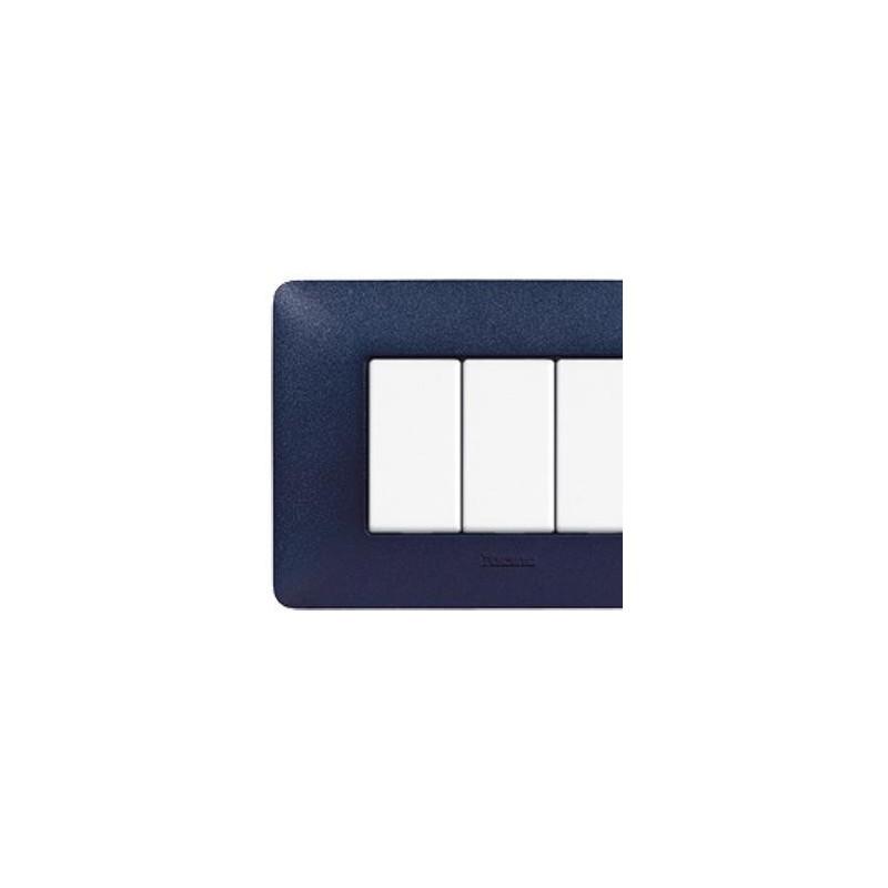 Placca 4 Moduli - Blu Mercurio - Matix Textures