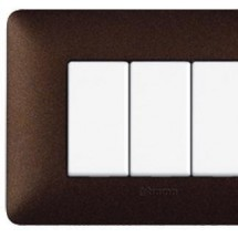 Placca 4 Posti - Caffè Marrone - Matix Textures