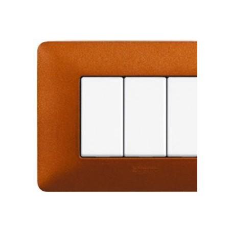 Placca 4 Moduli - Rosso Terra - Matix Textures