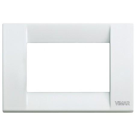 Placca in metallo 3 moduli bianca