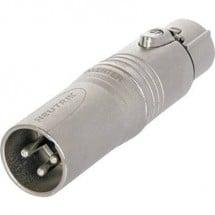 Adattatore XLR Spina XLR - Presa XLR Neutrik NA3M5F 1 pz.