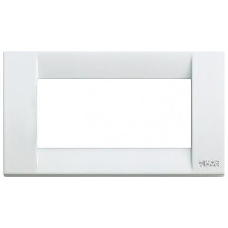 Placca bianca 4 moduli in metallo