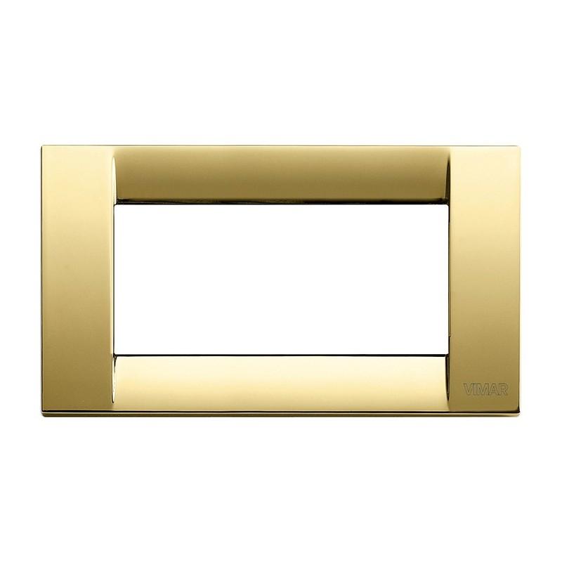 Placca 4 moduli col oro lucido
