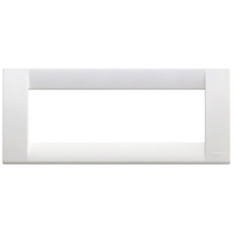 Placca bianco brillante 6 moduli