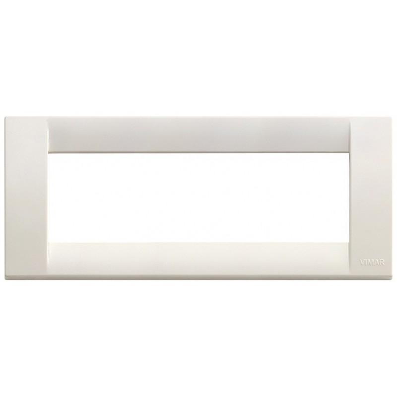 Placca bianca 6 moduli classica